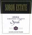 Sobon Estate Amador County Syrah